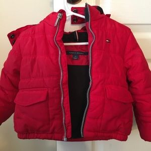 Baby Tommy Hilfiger coat with hood